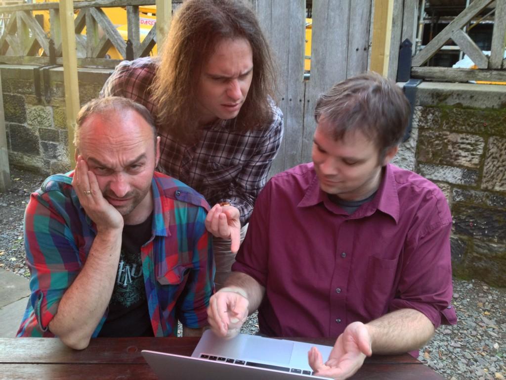 L-R: David McGuinness, Luca Guariento, Andrew Hankinson